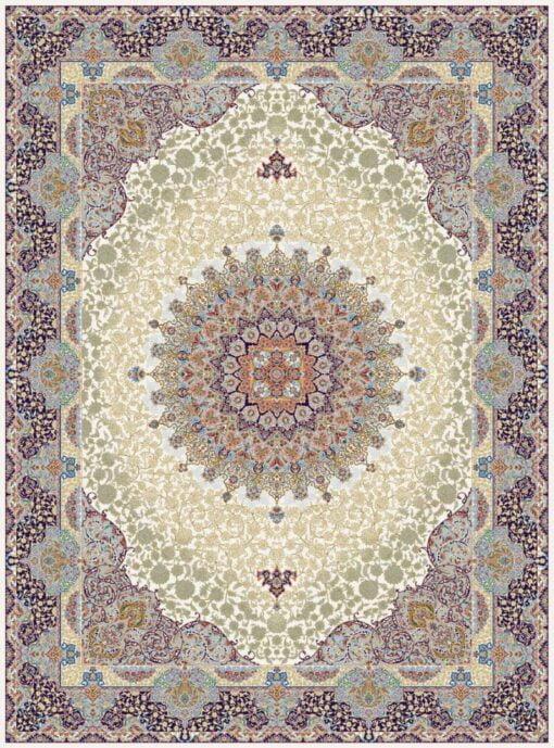 فرش مشهد ۷۰۰ شانه کد ۸۷۲۳۷۵ کرمی