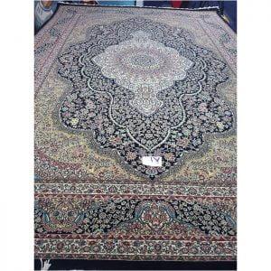 فرش مشهد ۷۰۰ شانه کد ۷۰۲۰۰۵ سرمه ای