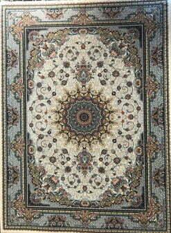 فرش مشهد ۷۰۰ شانه کد ۷۲۲۲۱۶ کرم