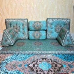 پشتی شاه نشین آبی  پشتی سنتی شاه نشین از کجا بخرم shahneshin abi 3 247x247